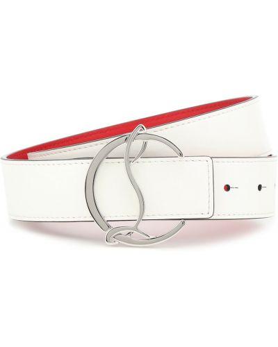 Повседневный кожаный белый ремень с поясом Christian Louboutin