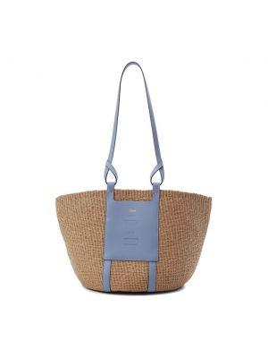 Голубая кожаная сумка Chloé