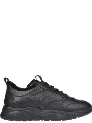 Кожаные кроссовки - черные Stokton