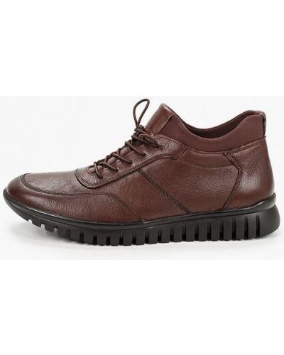 Коричневые кожаные ботинки Pierre Cardin