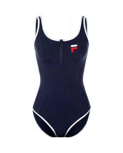 Спортивный купальник для бассейна синий Fila