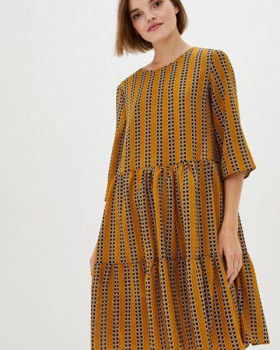 Прямое желтое платье 7arrows