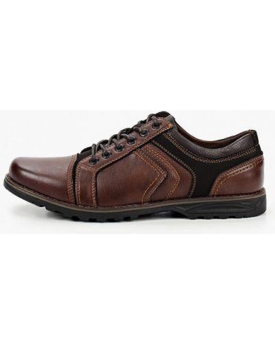 Коричневые кожаные туфли O-live Naturalle