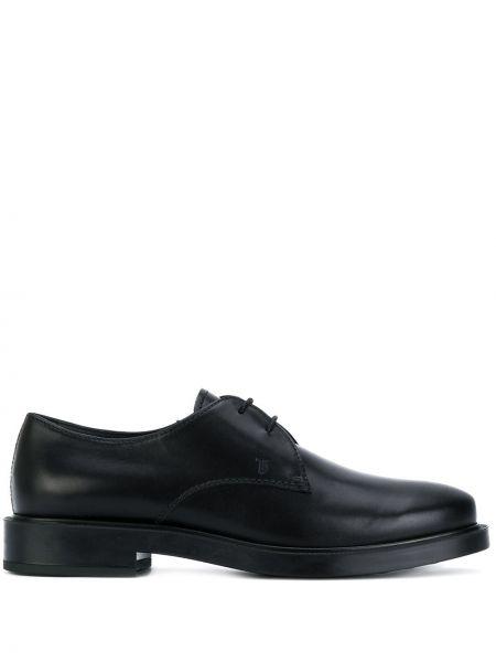 Кожаные туфли черные классические Tods