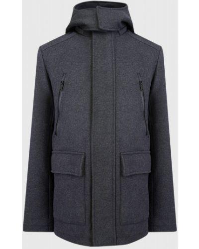 Серое шерстяное пальто с капюшоном Ostin
