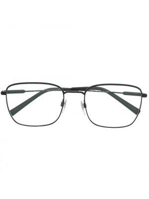 Черные очки квадратные металлические Bvlgari