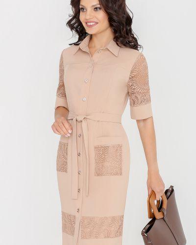 Летнее платье со вставками платье-рубашка Dstrend