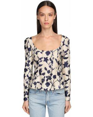 Блузка с длинным рукавом кружевная с цветочным принтом Brock Collection