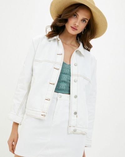 Белая джинсовая куртка Trendyol