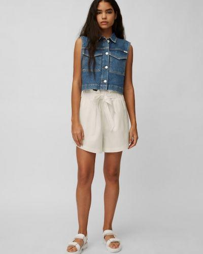Białe jeansy z paskiem Marc O Polo