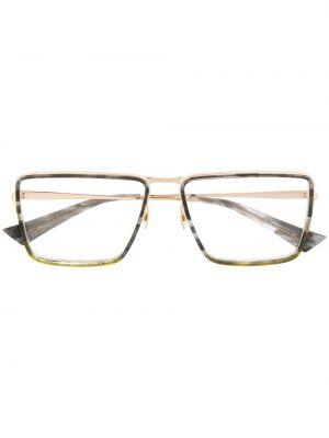 Классические очки квадратные металлические хаки Christian Roth