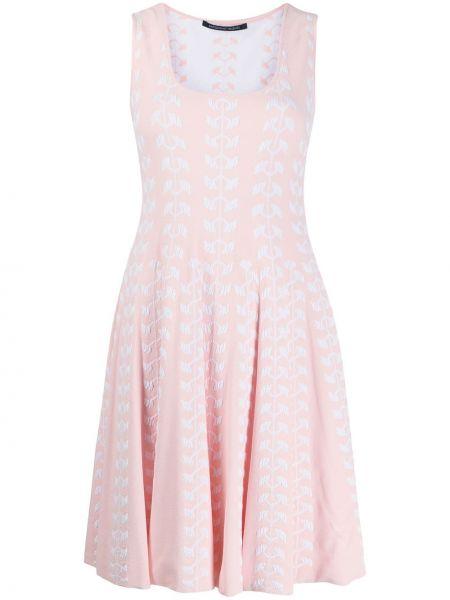Różowa sukienka mini z wiskozy bez rękawów Antonino Valenti