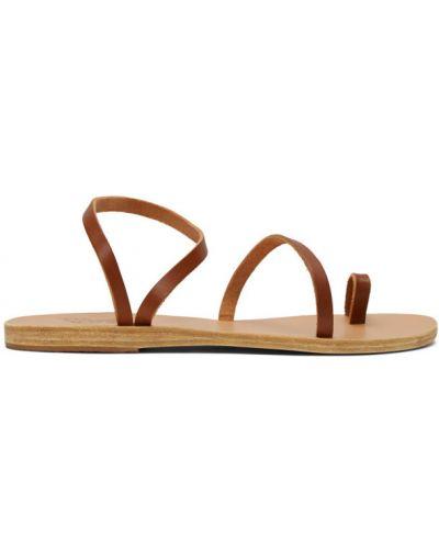 Z paskiem skórzany sandały grecki na paskach okrągły Ancient Greek Sandals