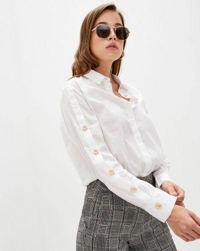 Рубашка с длинным рукавом белая Sisley