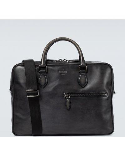 Кожаный портфель - черный Berluti