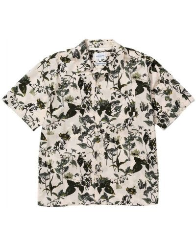 Koszula w kwiaty - beżowa Norse Projects