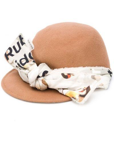 Бежевая ватная хлопковая шляпа Wolf & Rita
