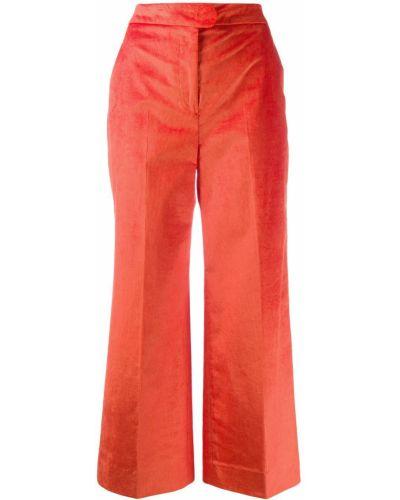 Свободные брюки вельветовые расклешенные Pt01