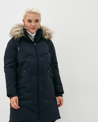 Теплая синяя куртка Zizzi