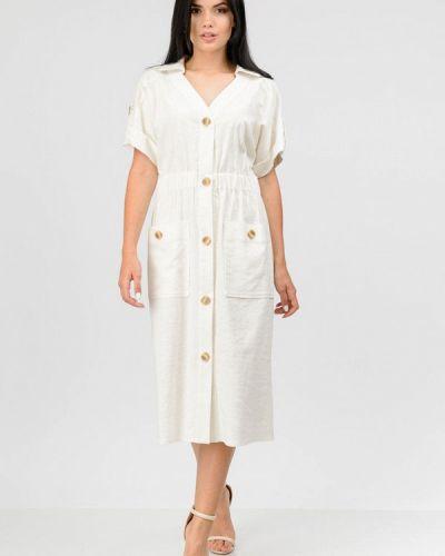 Белое повседневное платье Raslov