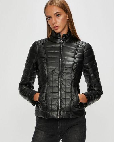Кожаная куртка стеганая с карманами Morgan