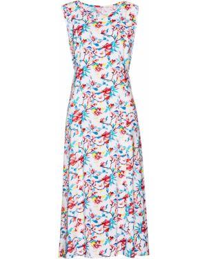 Платье миди из вискозы расклешенное Bonprix