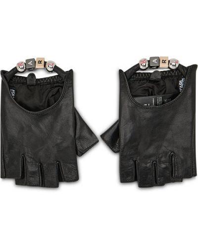 Czarne rękawiczki Karl Lagerfeld