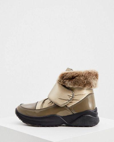Текстильные ботинки золотые Jog Dog