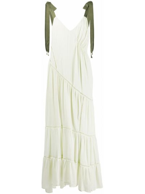 Шелковое платье - зеленое Cinq À Sept