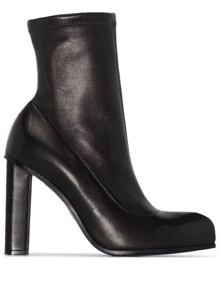 Czarny buty z prawdziwej skóry rozciągać Alexander Mcqueen