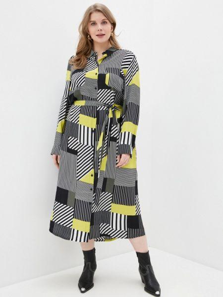 Платье платье-рубашка весеннее Ulla Popken