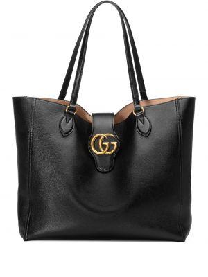 Кожаная черная сумка-тоут квадратная Gucci