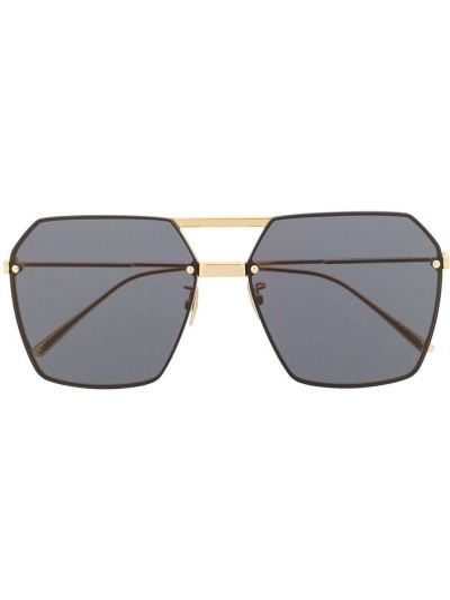 Światło prosto oprawka do okularów metal złoto Bottega Veneta