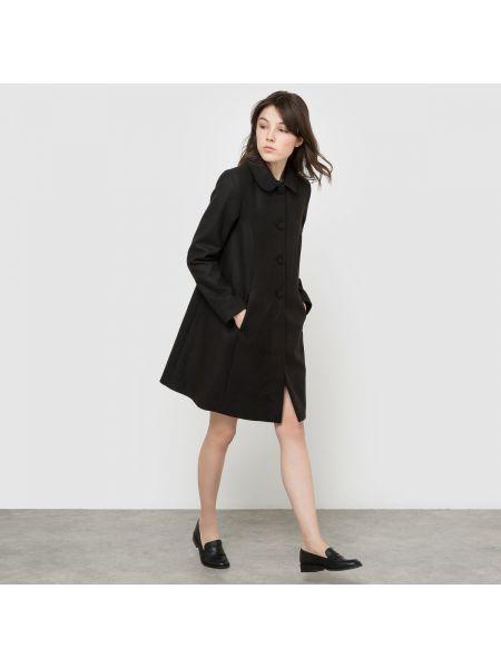 Пальто расклешенное с воротником La Redoute Collections