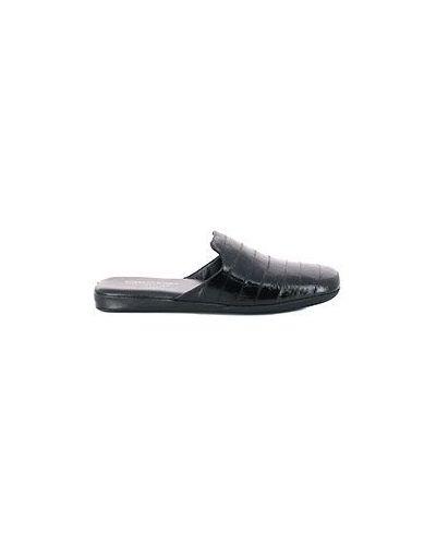 Кожаные тапочки - черные Roberto Rossi