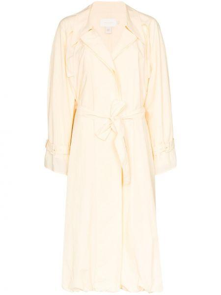 Желтый хлопковый пальто классическое двубортный Low Classic