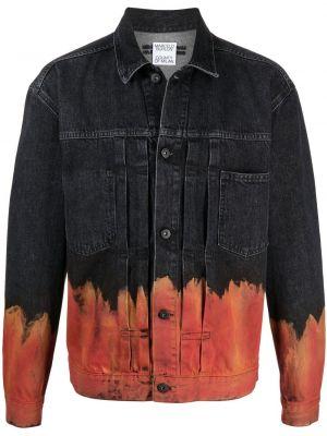 Klasyczne czarne jeansy bawełniane Marcelo Burlon County Of Milan