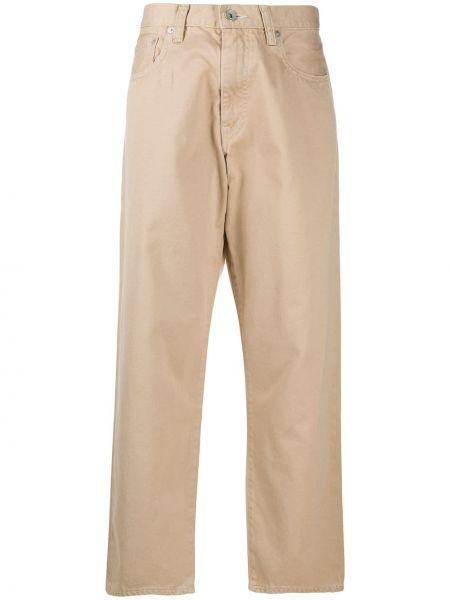 Хлопковые брюки с карманами свободного кроя Ma'ry'ya