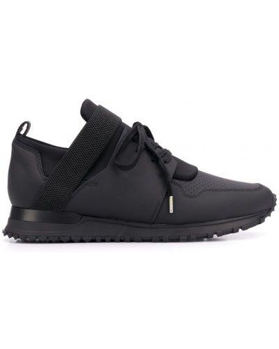 Кроссовки черные на шнуровке Mallet Footwear