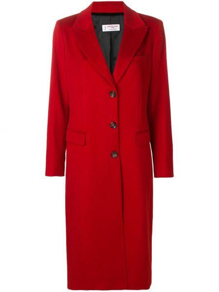 Красное шерстяное пальто с капюшоном Alberto Biani