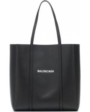 Кожаная сумка сумка-тоут черная Balenciaga