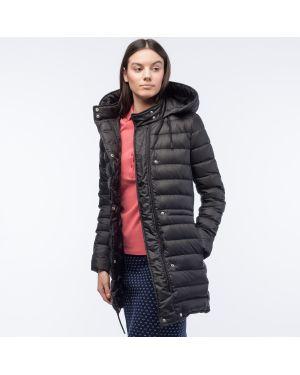 Куртка с капюшоном черная с перьями Lacoste