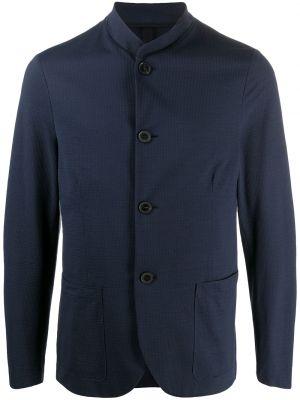 Однобортный синий пиджак с воротником Harris Wharf London