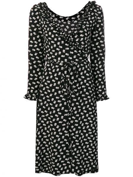 Платье миди с запахом на молнии Alexa Chung