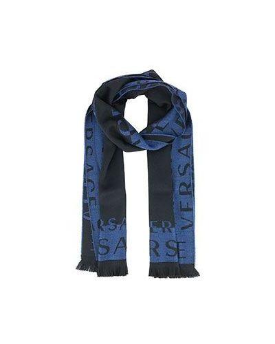 Голубой шарф Versace