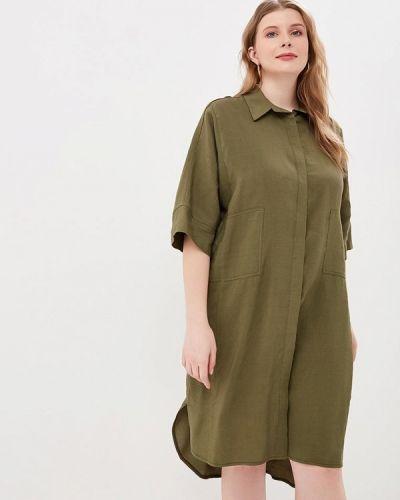 Повседневное платье зеленый хаки Tutto Bene Plus