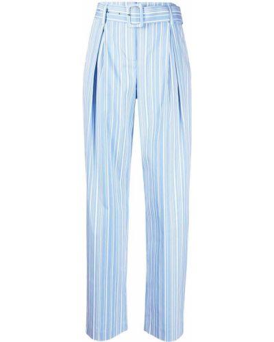 Прямые синие брюки в полоску Krizia