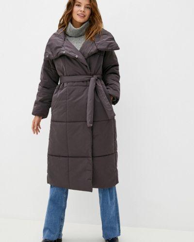 Утепленная коричневая куртка Zarina