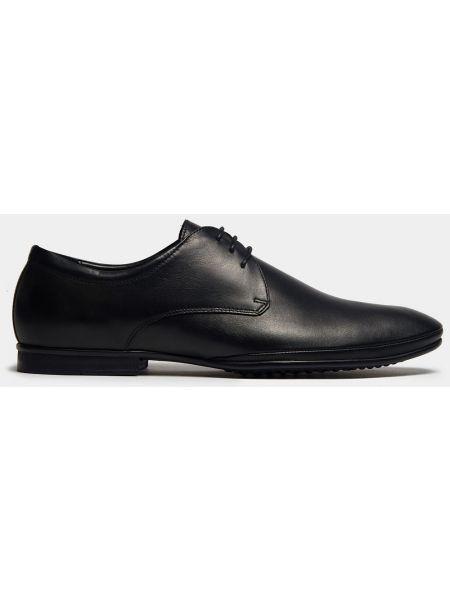 Кожаные деловые черные классические туфли на каблуке Ralf Ringer