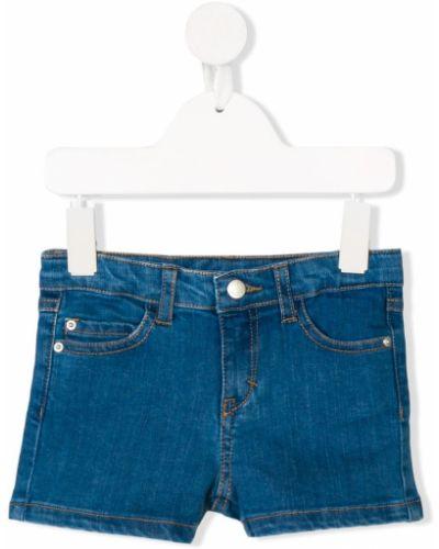 Хлопковые синие джинсовые шорты Knot